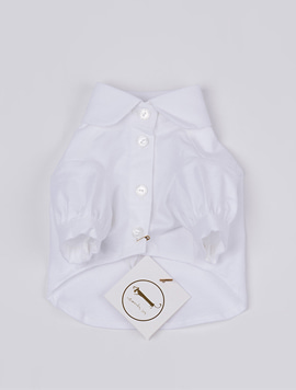 [Dachshund] White shirt blouse